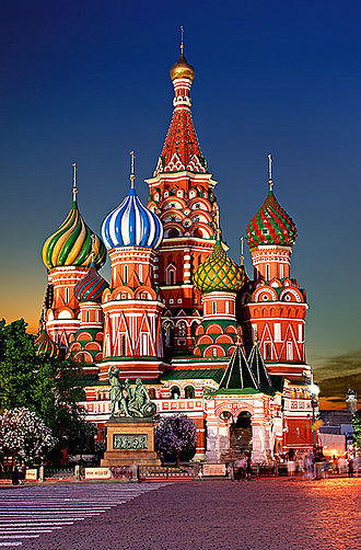 Tourism in Russia - St. Basil's Cathedral in Red Square