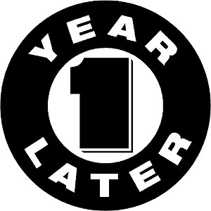 One Year Later - Logo used by DC Comics in marketing the event