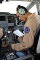 1st Lt. Faaiz Ramaki, Afghan National Army Air Corps pilot, performs pre-flight checks before the first operational mission of the C-27 from Kabul IAP.jpg