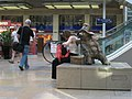 2009 at Paddington station - Paddington bear statue.jpg