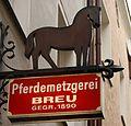 2009 sign Pferdemetzgerei Breu Passau.jpg