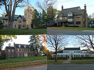 Pill Hill, Rochester, Minnesota - Several houses from the Historic District