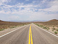 2014-07-17 11 47 49 View west along U.S. Route 6 about 19.4 miles east of the Esmeralda County Line in Nye County, Nevada.JPG