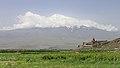 2014 Prowincja Ararat, Widok na Wielki Ararat i klasztor Chor Wirap (03).jpg