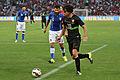 20150616 - Portugal - Italie - Genève - Tiago Mendes devant Antonio Candreva.jpg