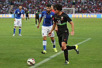 Tiago Mendes - Tiago in a 2015 friendly against Italy.