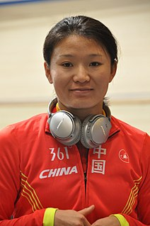 Luo Xiaoling Chinese female cyclist