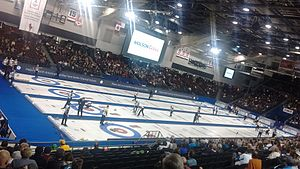 2016 Tim Hortons Brier - Draw 13 action.