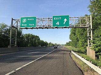 Mount Laurel, New Jersey - View north along the New Jersey Turnpike in Mount Laurel
