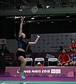 2018-10-12 Badminton Mixed International Team Bronze medal match 1 at 2018 Summer Youth Olympics by Sandro Halank–030.jpg