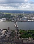 2018 LCY, aerial view of Thames Barrier 1.jpg