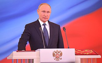 Fourth inauguration of Vladimir Putin - Vladimir Putin takes the oath of office as the
