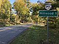 2019-10-15 08 54 02 View north along Virginia State Route 255 (Bishop Meade Road) at U.S. Route 17 and U.S. Route 50 (John Mosby Highway) in Millwood, Clarke County, Virginia.jpg