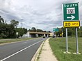 2020-08-03 15 32 41 View east along Maryland State Route 150 (Eastern Avenue-Boulevard) at the exit for Maryland State Route 151 SOUTH in Dundalk, Baltimore County, Maryland.jpg
