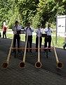 25.05.17 Weizen Alphorn Blowers (34629866750).jpg