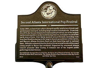 Atlanta International Pop Festival (1970) - Georgia Historical Society marker.