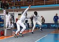 2nd Leonidas Pirgos Fencing Tournament. A flèche and a counter-attack leading to a double touch.jpg