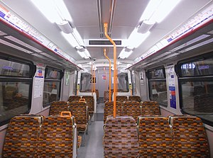 British Rail Class 315 - The refreshed interior of a London Overground Class 315