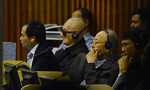 Ieng Sary - Ieng Sary with Nuon Chea on trial