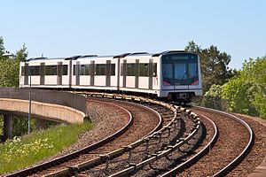 Oslo Metro - MX3000 on the Østensjø Line