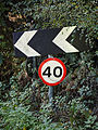 40mph road sign Nuthurst West Sussex England.jpg