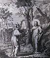 426 Life of Christ Phillip Medhurst Collection 4853 Temptation Luke 4.1-4 Scheits.jpg