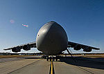 433rd Airlift Wing C-5 Galaxy sits on the flight line prior to offloading its passengers and cargo at Eglin Air Force Base.jpg