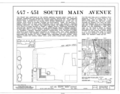 447-451 South Main Avenue (House), Tucson, Pima County, AZ HABS ARIZ,10-TUCSO,30-53 (sheet 1 of 4).png