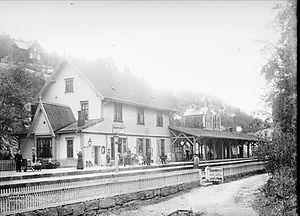 Bekkelaget Station - The station in 1903