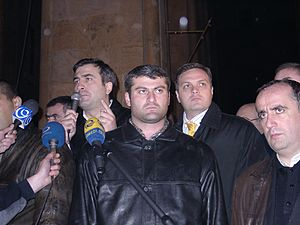 Giorgi Baramidze - Baramidze along Mikheil Saakashvili during the Rose Revolution