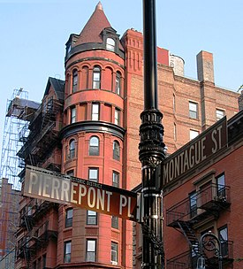 Ulica 62 Montague Street između Pierrepont Placea i Hicks Streeta u Brooklyn Heightsu (2006)