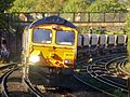 66761 Colnbrook Lafarge GBRf to Grain Foster Yeoman GBRf 6O74 (30115784570).jpg