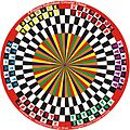 6 Players Circular Chess board with pieces invented by Hridayeshwar Singh Bhati.JPG