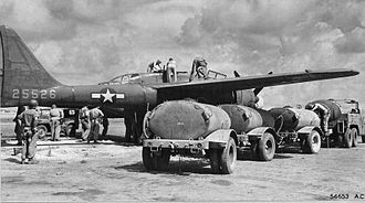"""6th Weapons Squadron - """"Nightie Mission"""" P-61A-1-NO 42-5526 Pictured being fueled and armed on East Field, Saipan, Mariana Islands, 1944"""