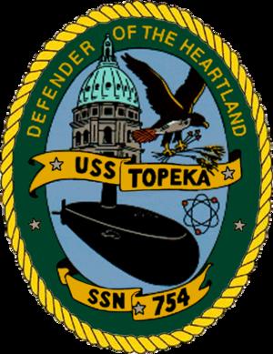 USS Topeka (SSN-754) - Image: 754insig
