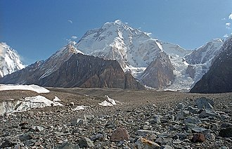 Trans-Karakoram Tract - Broad Peak lies on the border of the Tract
