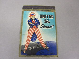 Matchbook - Matchbook cover, World War II, Uncle Sam
