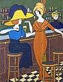 81 - Femmes au café 1910 - Georges Gaudions - Huile sur carton - Musée du Pays rabastinois - inv.D.2005.2.6.jpg
