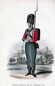 87th Regiment of Foot uniform