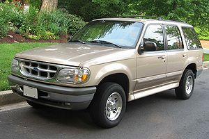1995-1998 Ford Explorer photographed in USA.