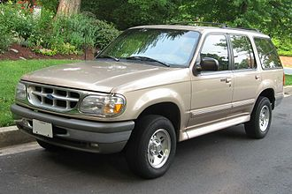 Sport utility vehicle - 1995–2001 Ford Explorer built on a light-truck chassis