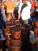 baies d'açaï au marché