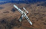 A-10 Thunderbolt II peels away after being refueled by a KC-135 Stratotanker.jpg