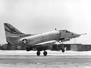 VMFA(AW)-224 - A VMA-224 A-4E takes off from Chu Lai, Vietnam, 24 September 1966.