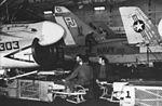 A-7Es of VA-82 in hangar of USS America (CVA-66) in 1971.jpg