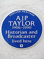 A.J.P. Taylor 1906-1990 Historian and Broadcaster lived here.jpg