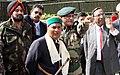 A. K. Antony, the Defence Secretary, Shri Pradeep Kumar and the Chief of Army Staff, Gen. V.K. Singh with other senior Army officers, at Kibithu in North Eastern Sector in Arunachal Pradesh on February 19, 2011.jpg