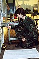 A1C Stephanie K. Durham-White, a ground radio communications equipment technician with the 2130th Communications Group, U.S. Air Force Communications Command (AFCC), checks the volt - DPLA - 4329e997fb8b1be0dc7ab56b3d0c1341.jpeg