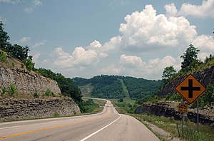 Kentucky Route 9 - AA Highway/KY 10 in Greenup County, Kentucky