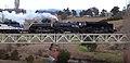 ACT ARHS Garratt loco 6029 on Queanbeyan River bridge 3 Sept 2014.jpg